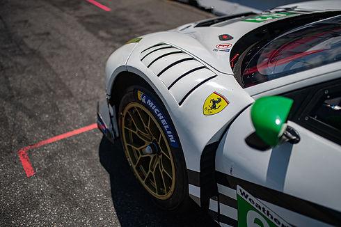 Close up of WeatherTech Racing Ferrari.