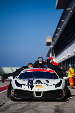 Ferrari on the grid.