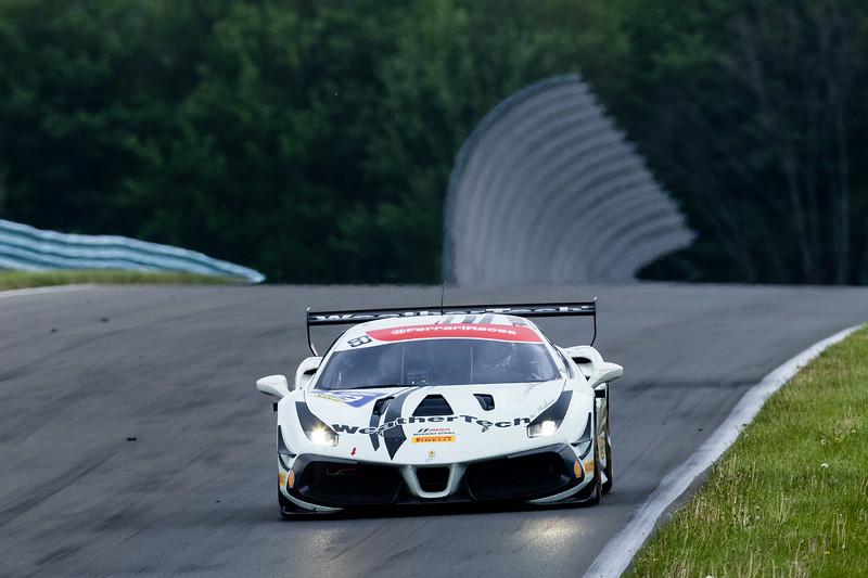 Racing towards the next turn.