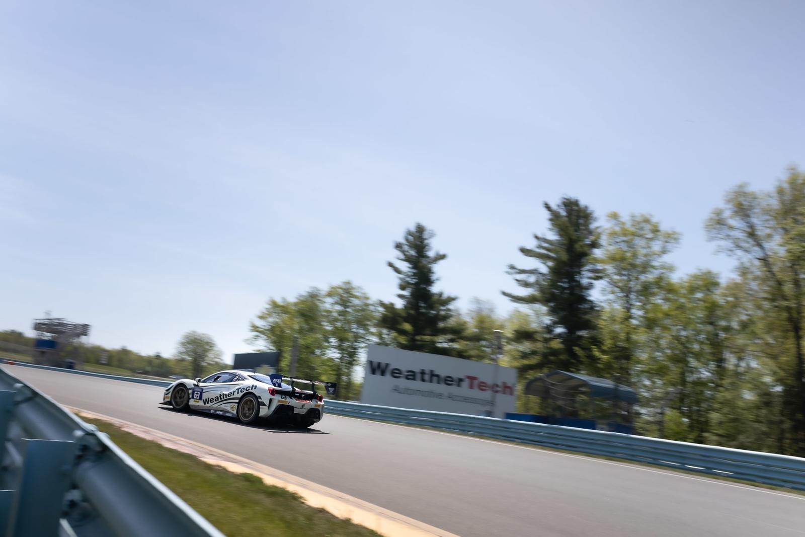 Ferrari tearing up a hill.