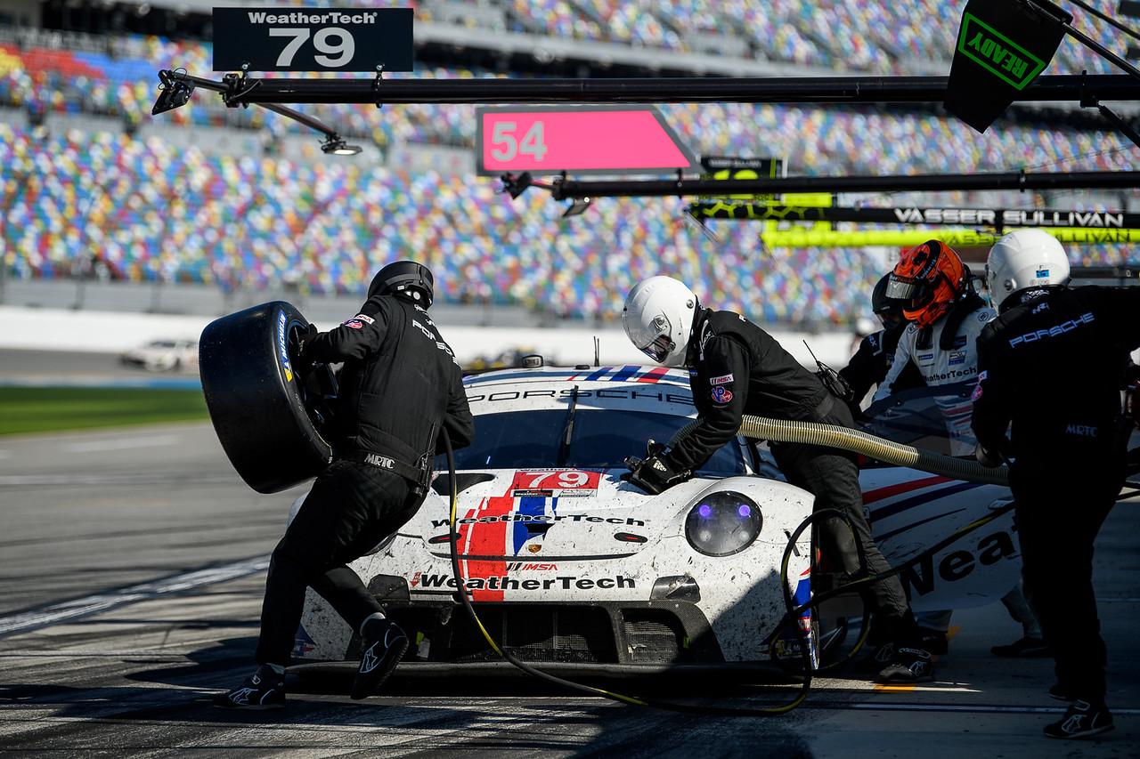 Porsche pit stop.