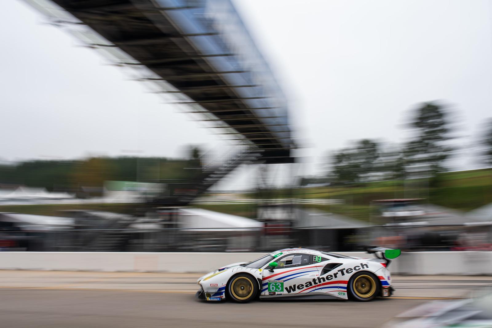 Car on track.