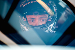 Cooper inside the Ferrari.