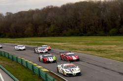 Ferrari racing leading the pack.