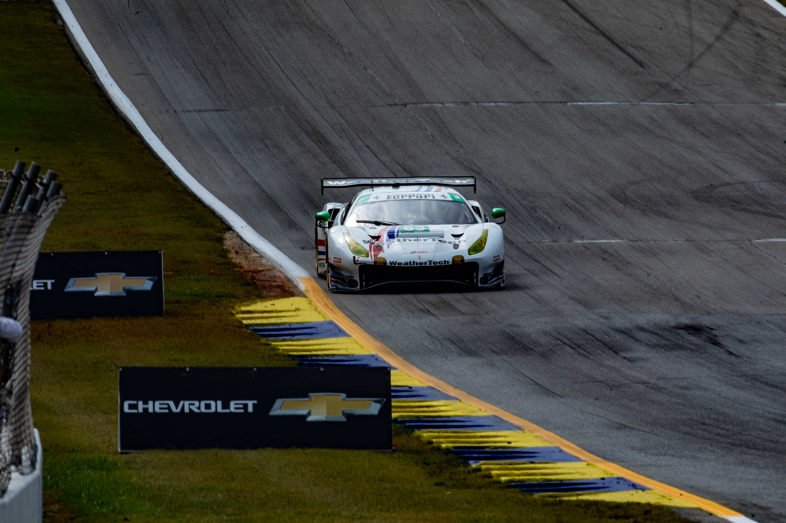 Ferrari coming down the line.