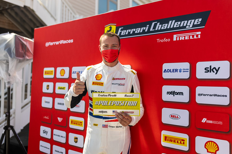 Cooper wins pole position.