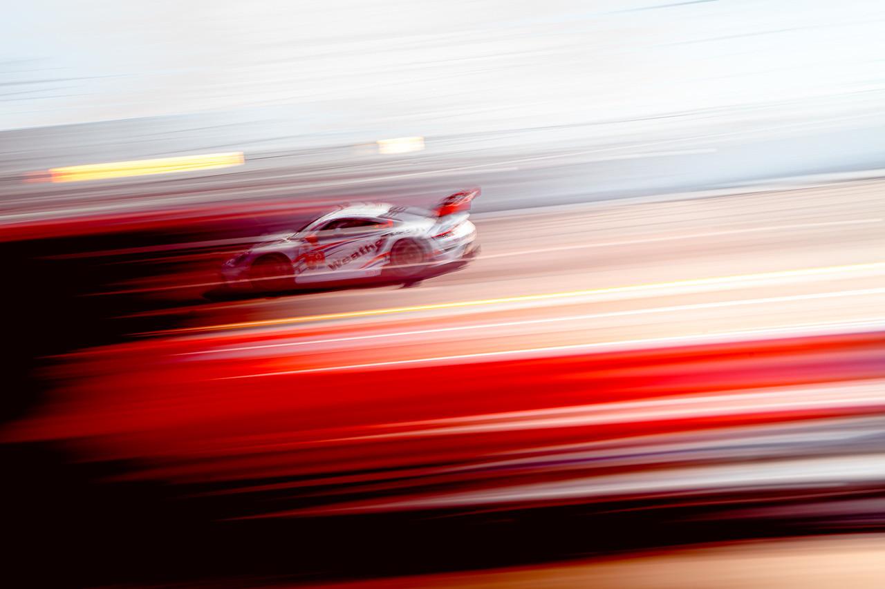 Porsche in action.
