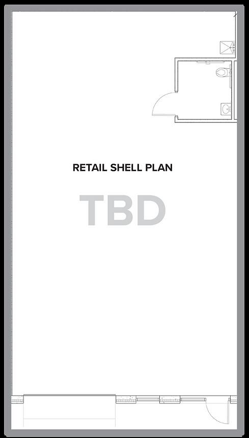 Retail shell plan.