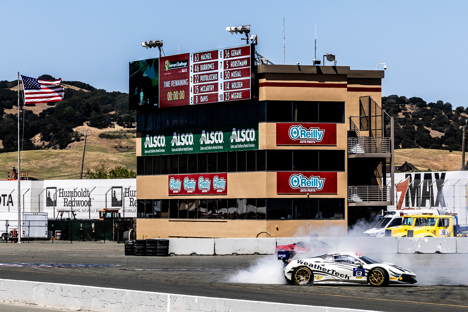 Donuts on the track.