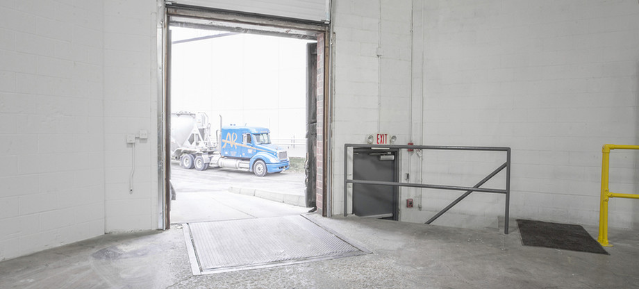 View of loading entryway.