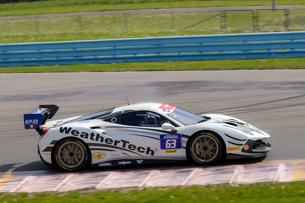 Ferrari on test day.