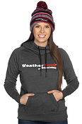 Woman Wearing WeatherTech Racing Hoodie.