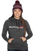 Woman Wearing WeatherTech Racing Hoodie.