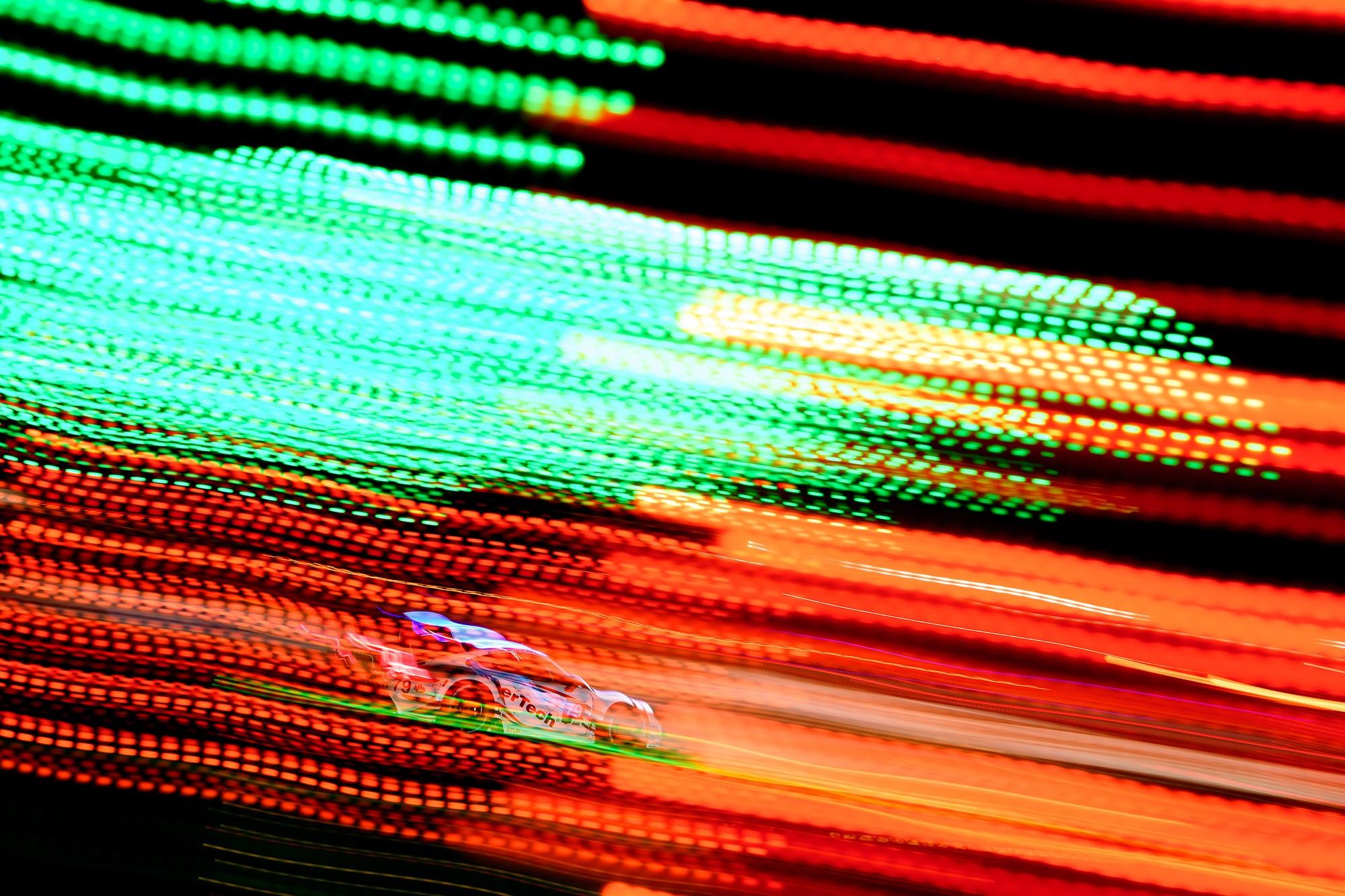Porsche under the lights.