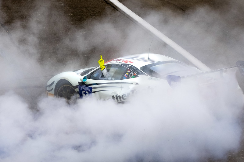 Doing victory donuts.