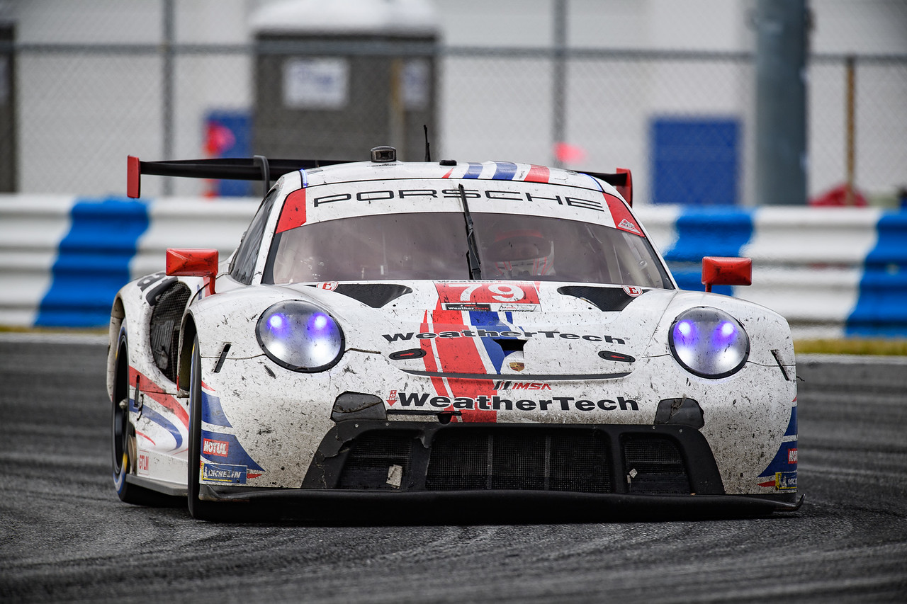 Porsche on track at Daytona.