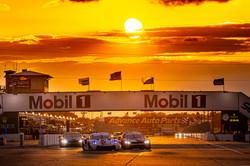 Porsche under a Sebring sunset.