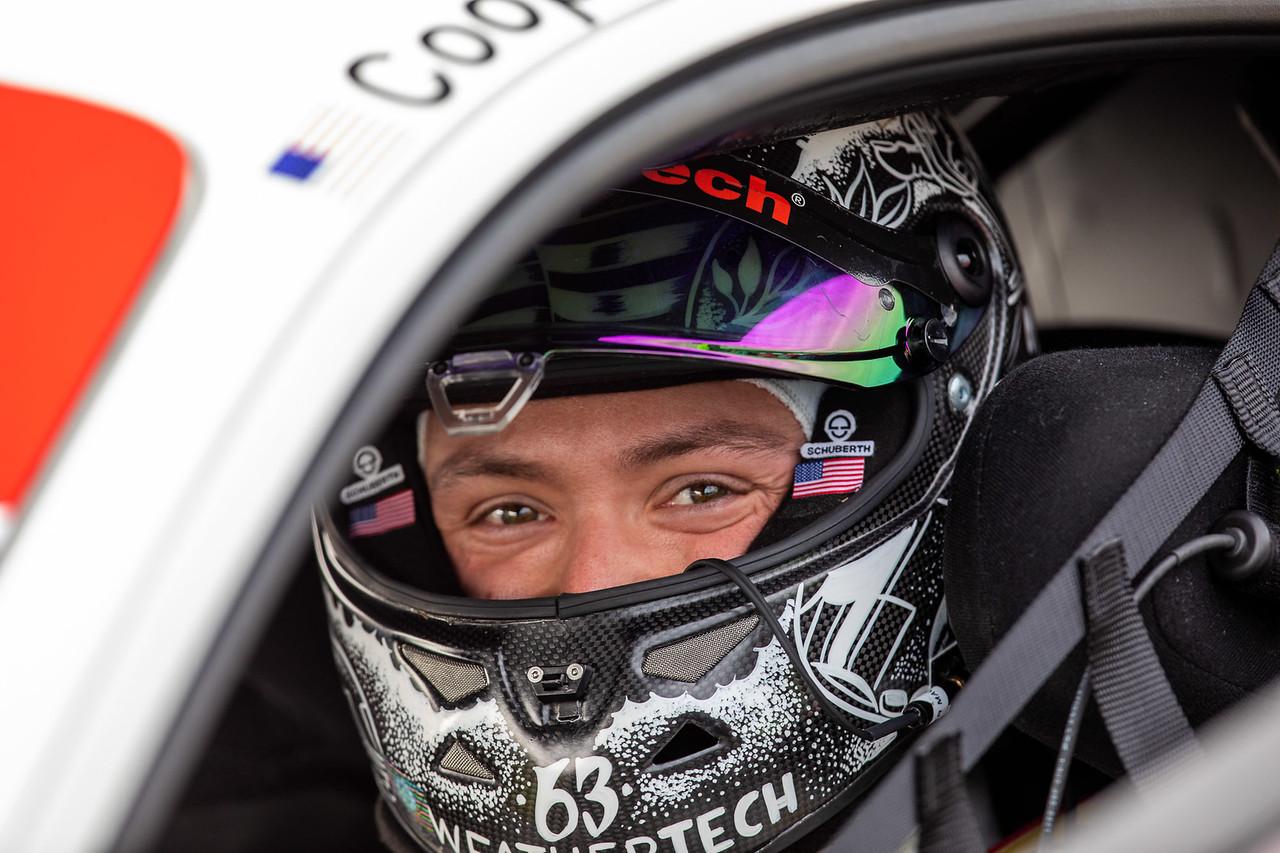 Cooper smiling in helmet.