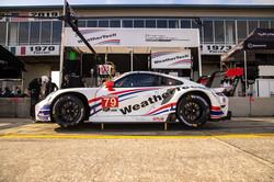 Porsche being worked on.