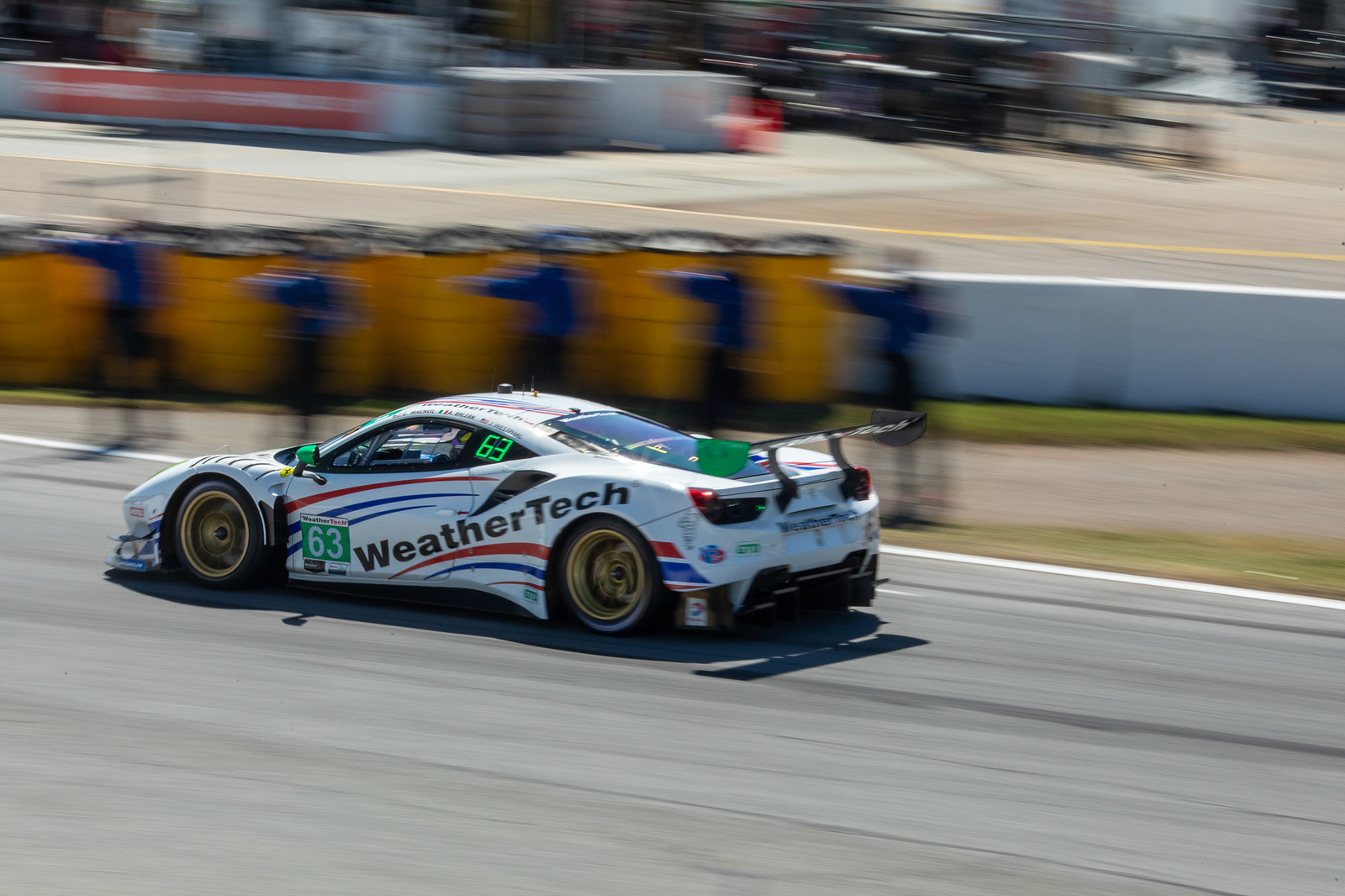 Car racing on turn.