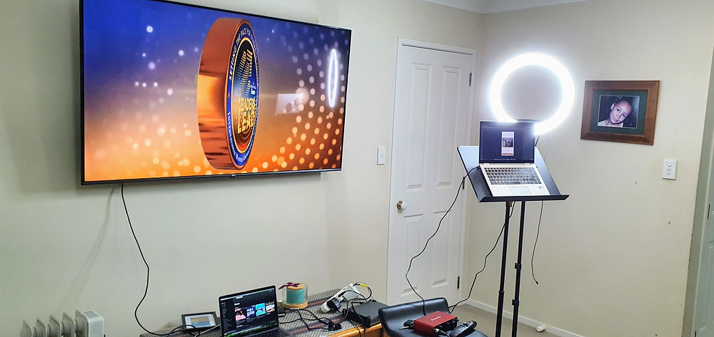Setup for a virtual conference using hopin.to