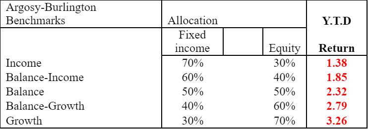 june benchmarks, portfolio benchmarks, equity