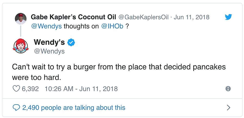 Wendy's Twitter on IHOB