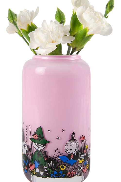 Moomin Shared Moments glass vase- small