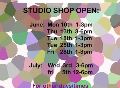 KOTA opening hours June/July