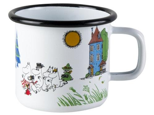 Moomin valley enamel mug