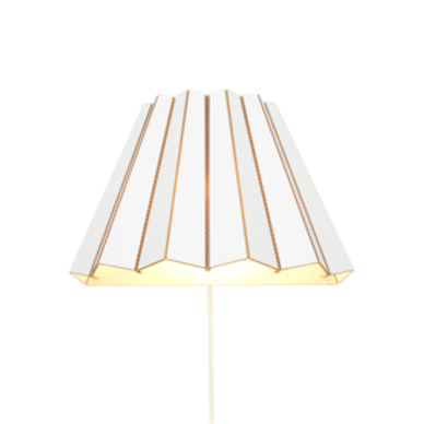 Cardboard wall light- white