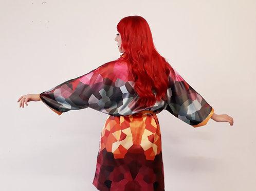 KOTA Kaleidoscope dressing gown/kimono (Volcano)