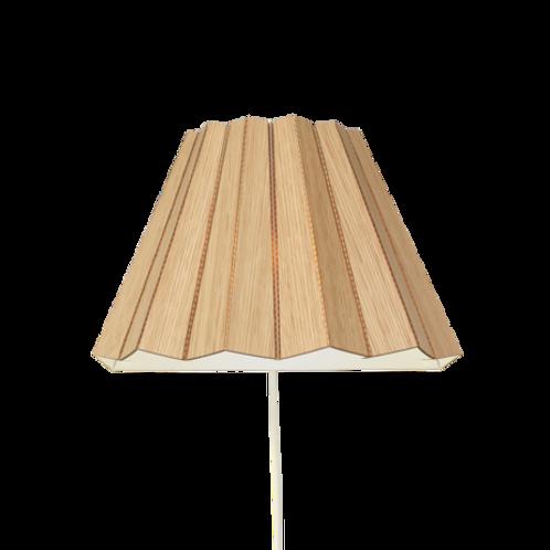 Cardboard wall light-Oak veneer