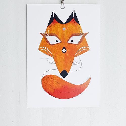 Mrs Fox -poster A3