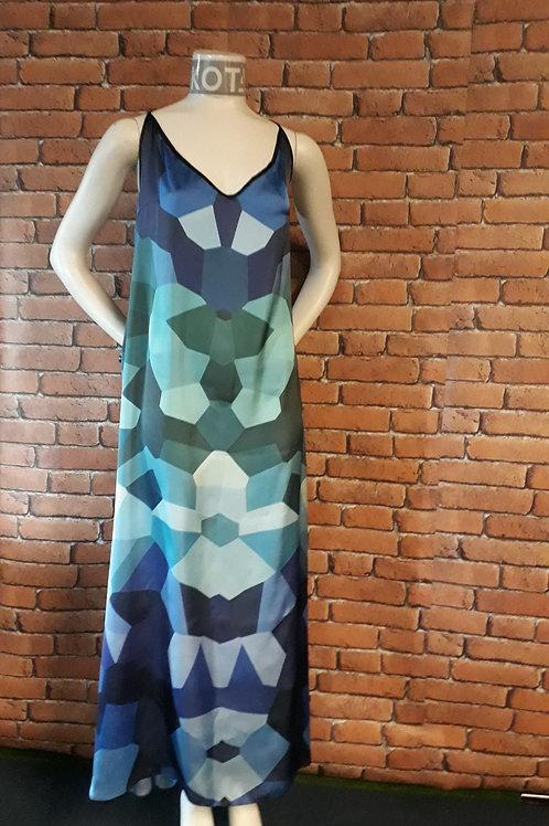 KOTA 'Kaleidoscope' -Slip dress (Glacier blue)