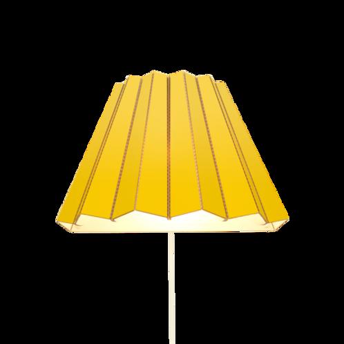 Cardboard wall light-yellow