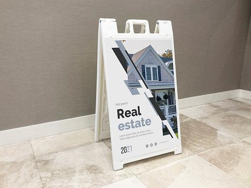 Real Estate A-Frame Signacades