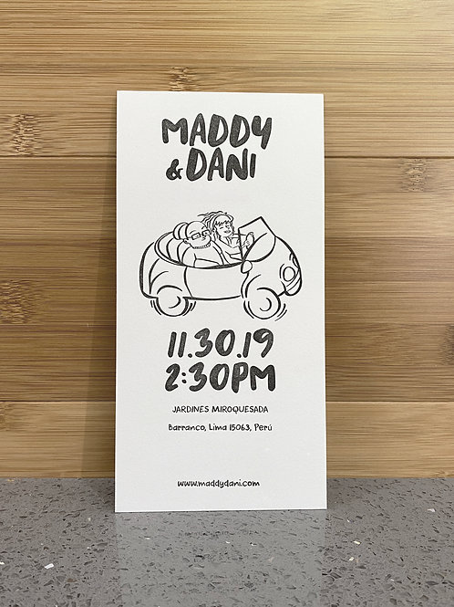 Thick Letterpress Save the Date Cards