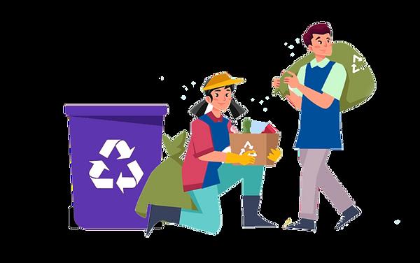 PErsonas reciclando, reciclador de base