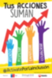 Campaña Actívate por la Inclusión lanzada juno a Senadis y teletón