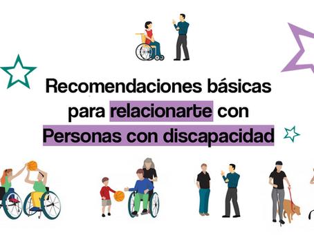 Recomendaciones básicas para relacionarte con las personas con discapacidad