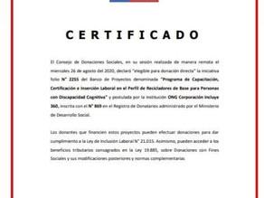 Incluye 360 ya es parte del Banco Integrado de Proyectos Chile.