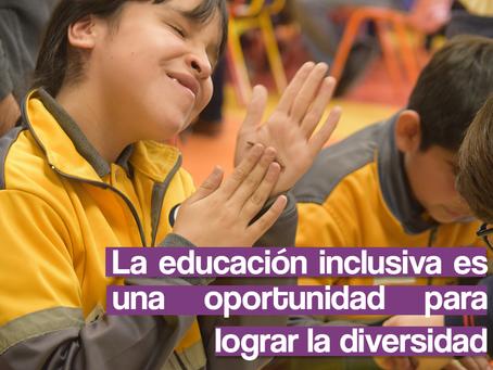 La educación inclusiva es una oportunidad para lograr la diversidad