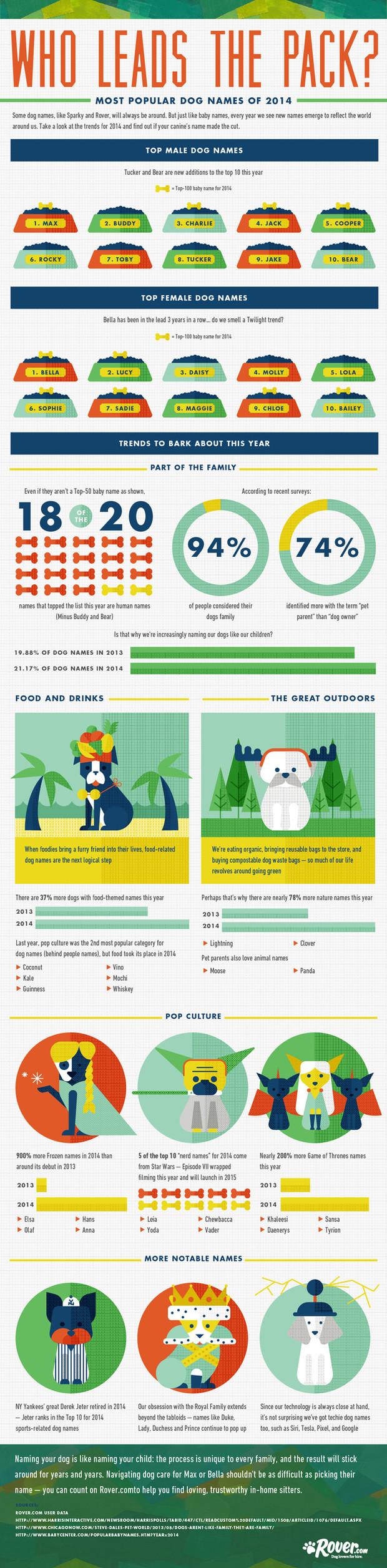 Popular dog names 2014