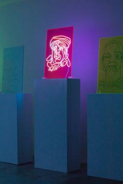 Biggie Neon Rap Portrait