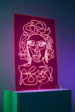 Nicki Minaj Neon Rap Portrait