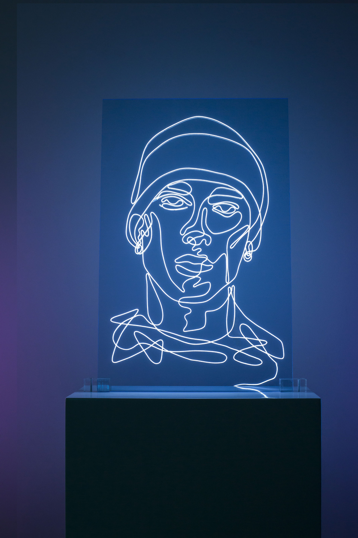 Eminem Neon Rap Portrait