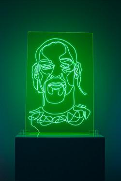 Snoop Dogg Neon Rap Portrait