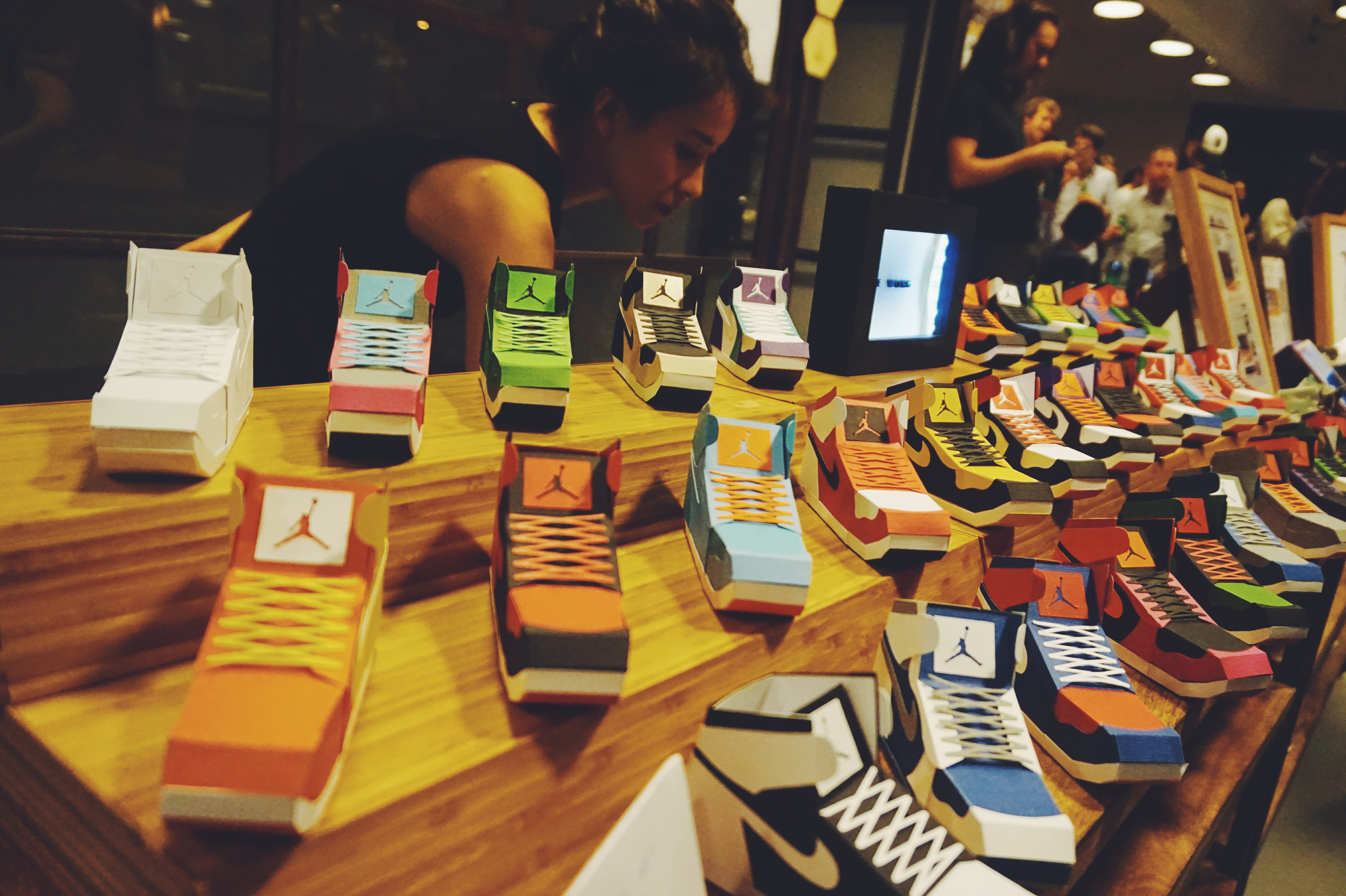 100 paper sneakers