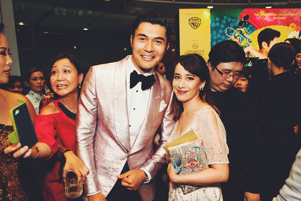 Crazy Rich Asians Fashion Buyer Natalie Wong at Singapore Premiere with Henry Golding